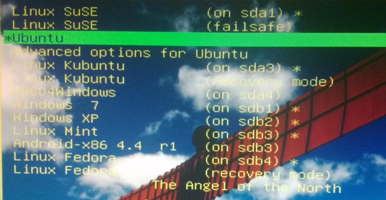 Multiboot Boot Menu Grub Grub2